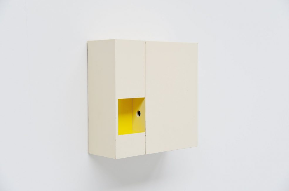 Hein Stolle modernist wall mirror cabinet Tetex 1953
