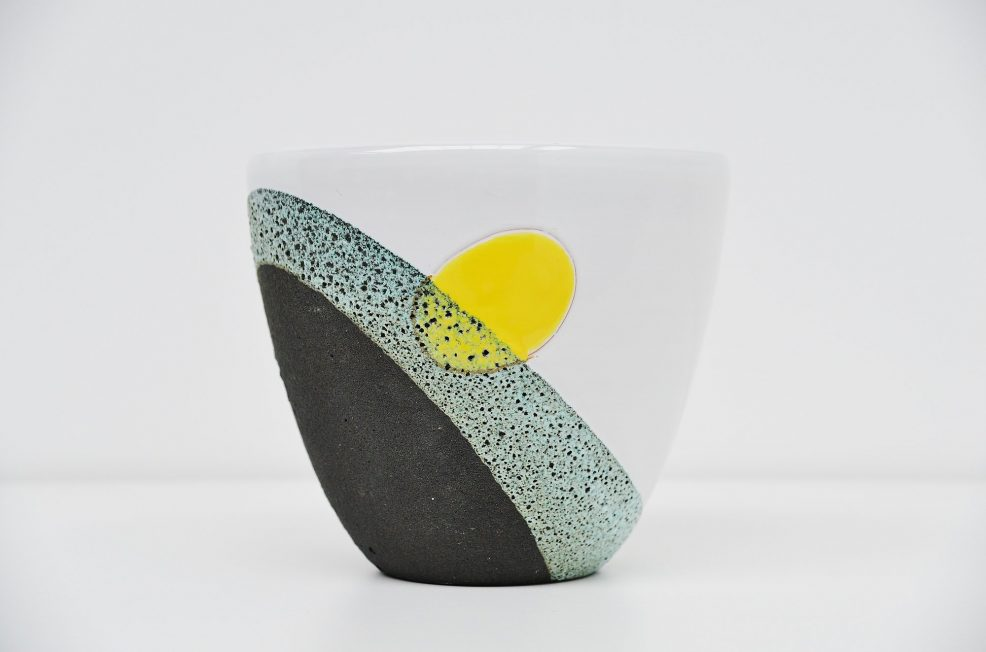 Ettore Sottsass Jr. ceramic pot by Bitossi Italy 1958