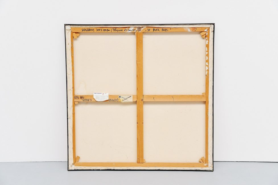 Jules Bekker 'de rose rups' painting on canvas 1975