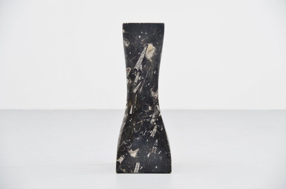 Black marble artwork sculpture 1970