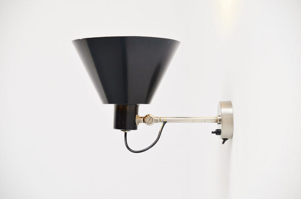 H. Fillekes Artiforte wall lamp WL3 Holland 1956