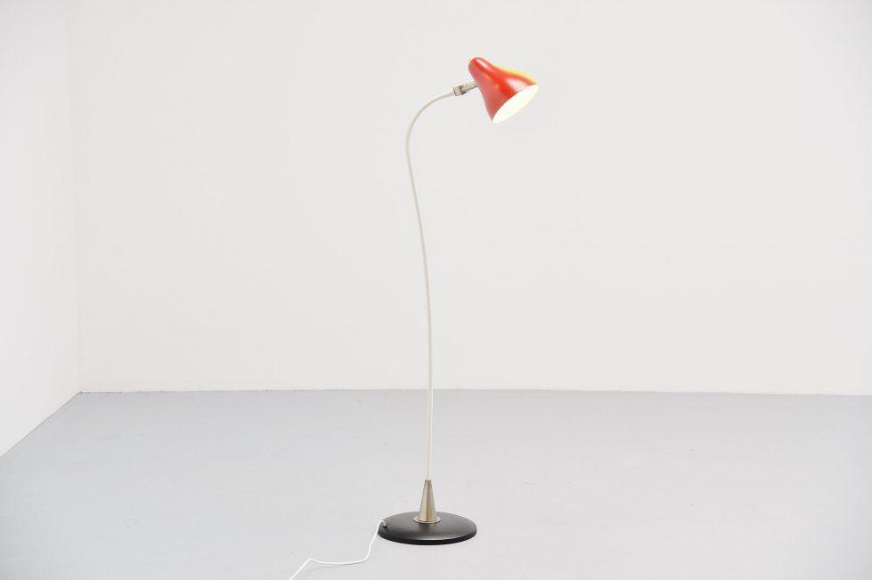 Anvia JJM Hoogervorst double shaded floor lamp Holland 1950
