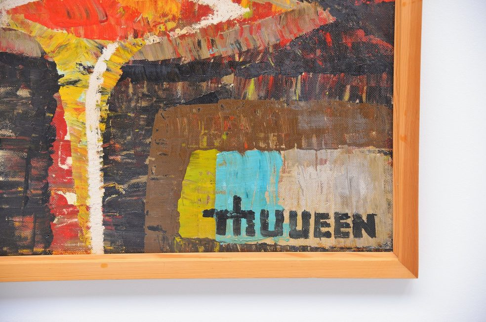 Theo van Veen large abstract modern painting on board 1960