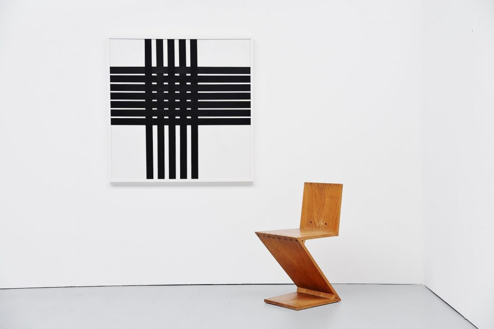 Rudolf Wolf abstract cross composition 1979