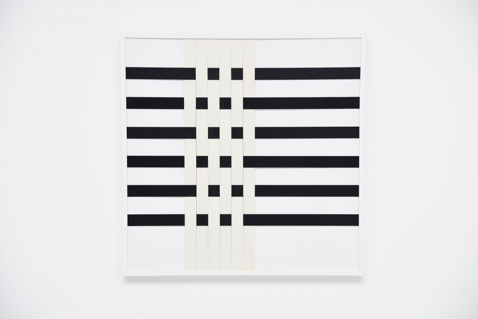 Rudolf Wolf abstract black & white composition 1979