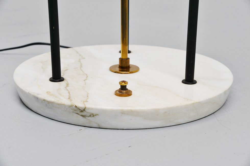 Stilnovo floor lamp marble and plexi, Italy 1960