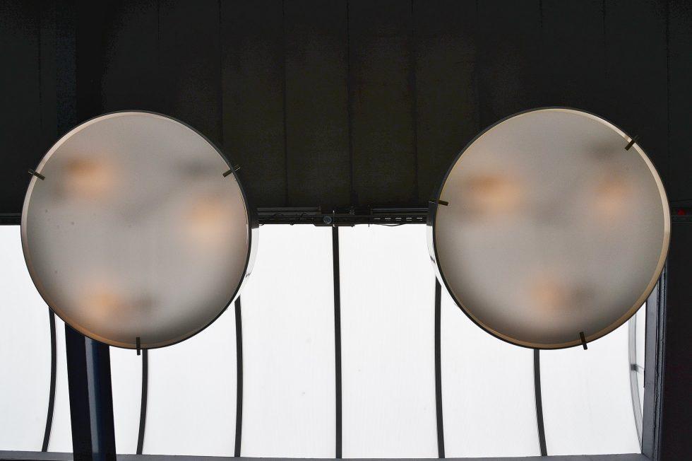 Stilnovo ceiling lamps Model 1090 by Bruno Gatta, Italy 1954