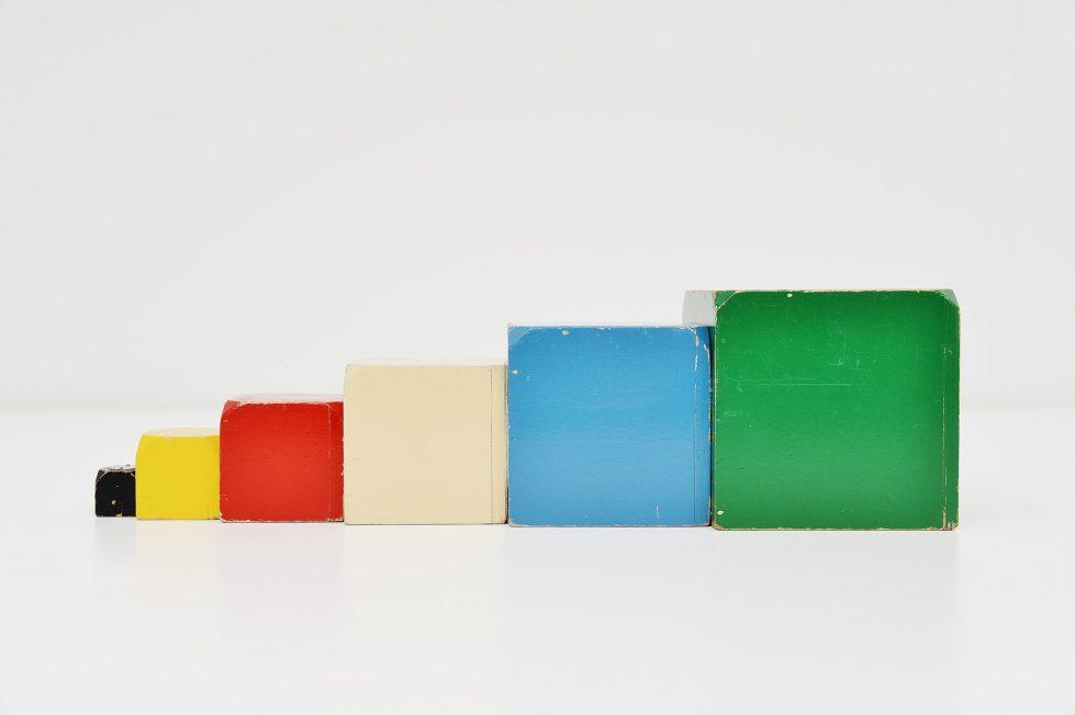 Ado cubes set Ko Verzuu Holland 1950