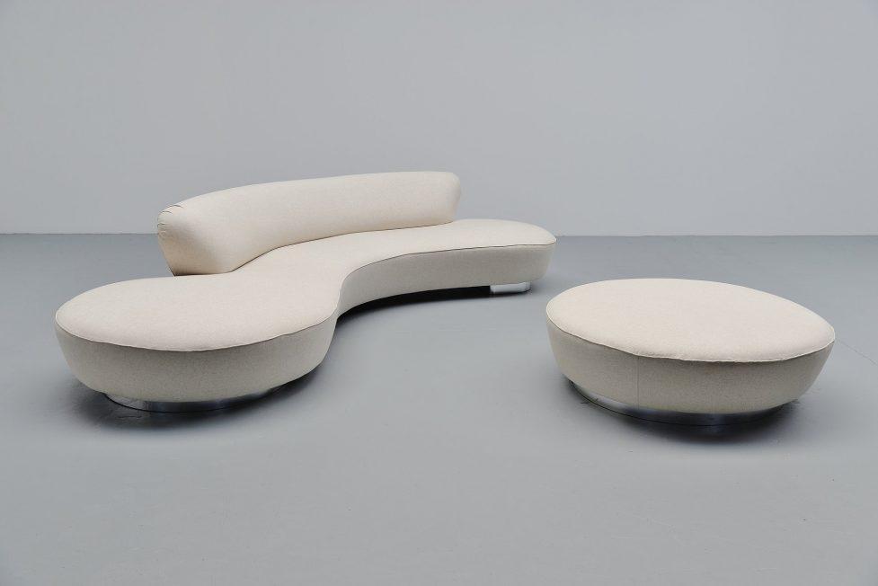 Vladimir Kagan Serpentine sofa Directional USA 1990