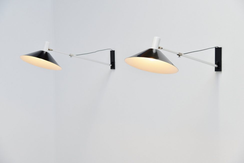 Anvia architectural wall lamps JJM Hoogervorst, Holland 1957