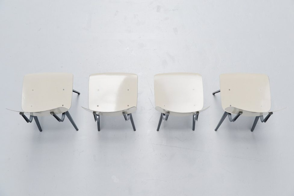 Friso Kramer Revolt chairs for Ahrend de Cirkel 1953 grey