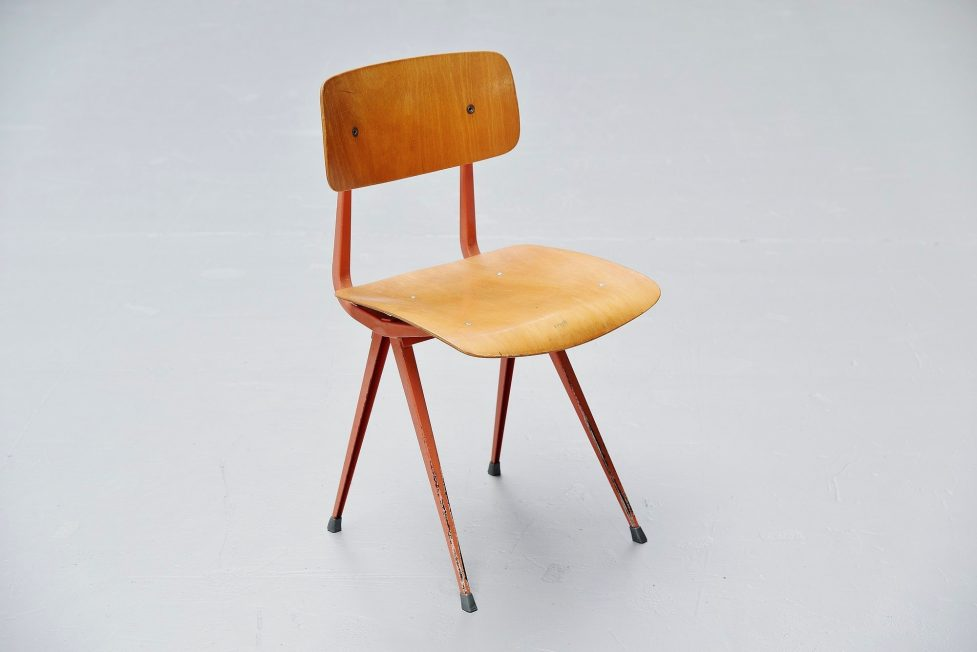 Friso Kramer Result chairs wood for Ahrend de Cirkel 1958