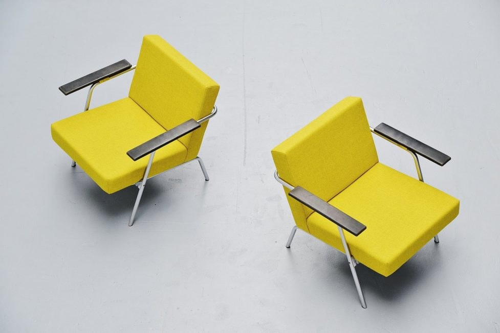 Martin Visser SZ02 easy chairs pair 't Spectrum 1964