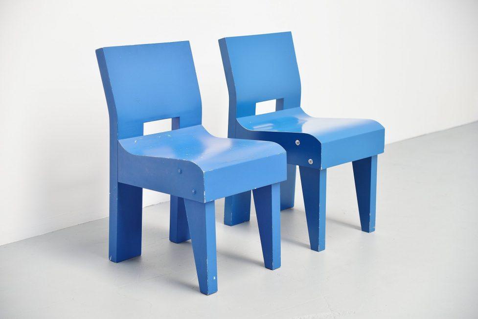 Martin Visser modernist prototype chair SE20 Spectrum 1988