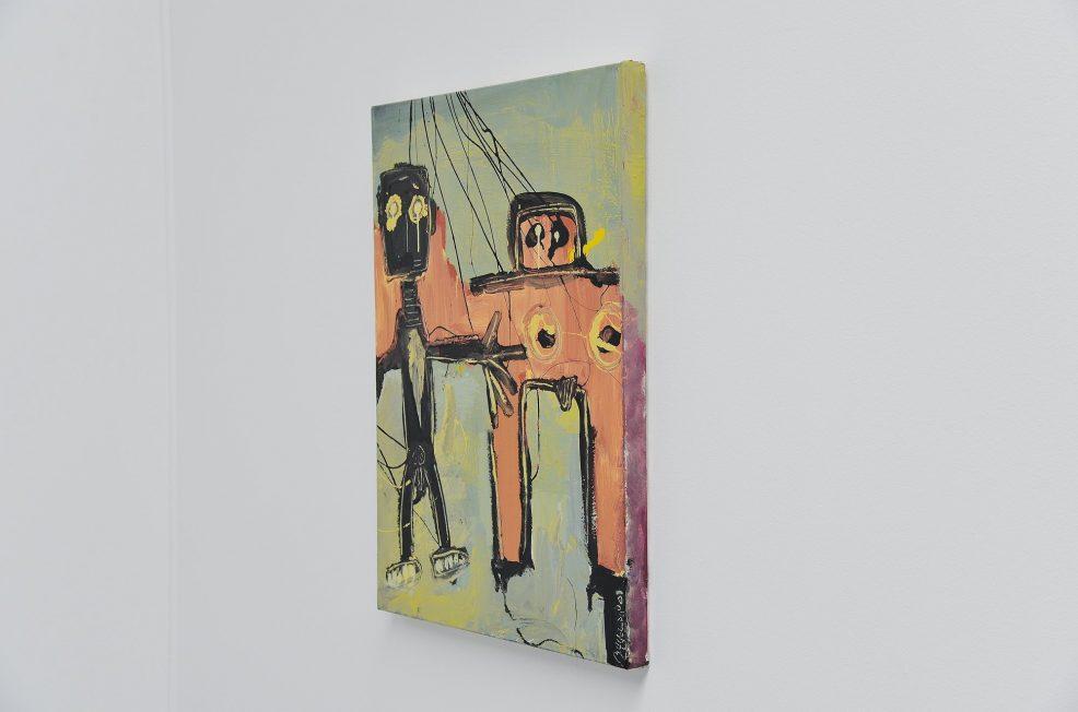Robert Bakowski painting Cobra style Belgium 2001