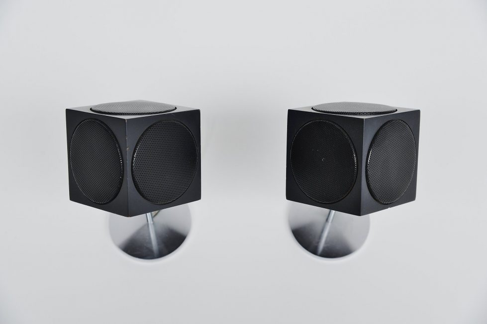 Bang & Olufsen B&B Beovox 2500 cube speakers 1967
