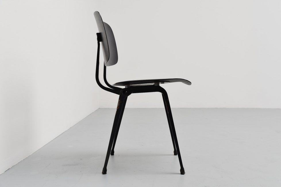 Friso Kramer Revolt chairs set Ahrend de Cirkel colors 1953