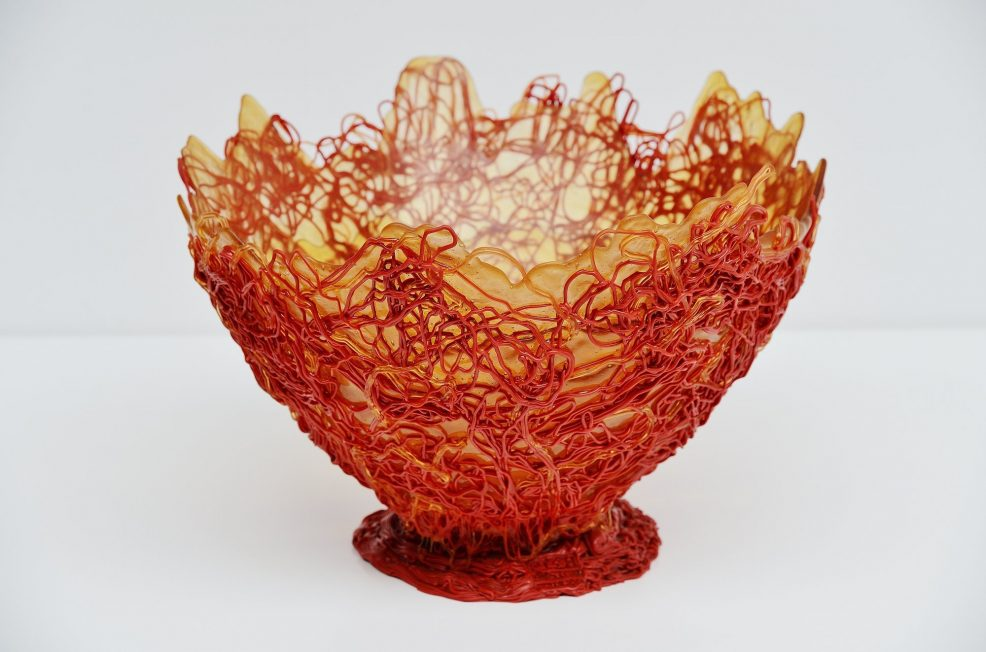 Gaetano Pesce XXL spaghetti bowl for Fish Design 2004
