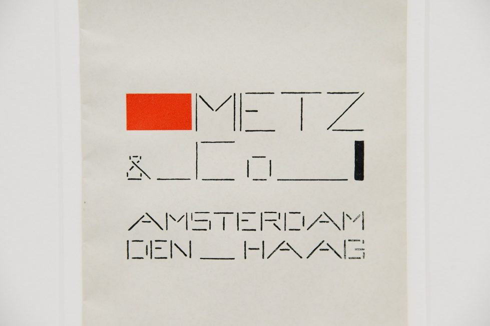 Bart van der Leck packaging bag Metz & Co Holland 1935