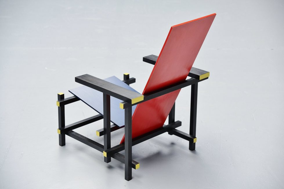 Red Blue Chair by Gerrit Thomas Rietveld