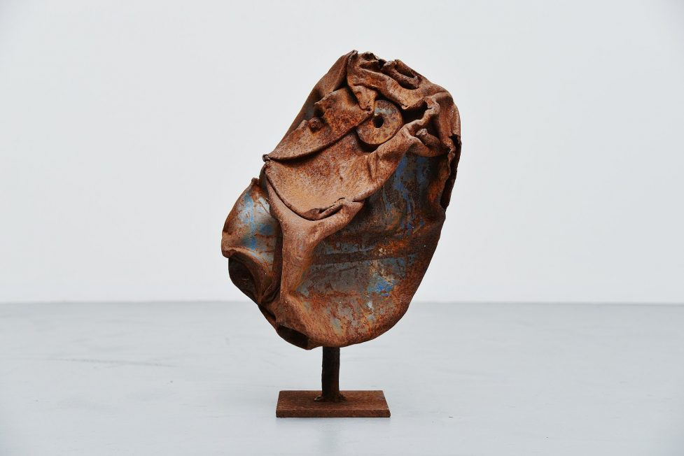 Theo Niermeijer abstract modern trash sculpture 1970