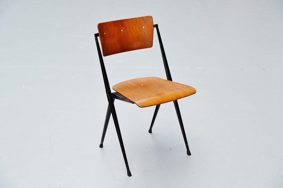 Wim Rietveld Pyramid chairs Ahrend de Cirkel 1960
