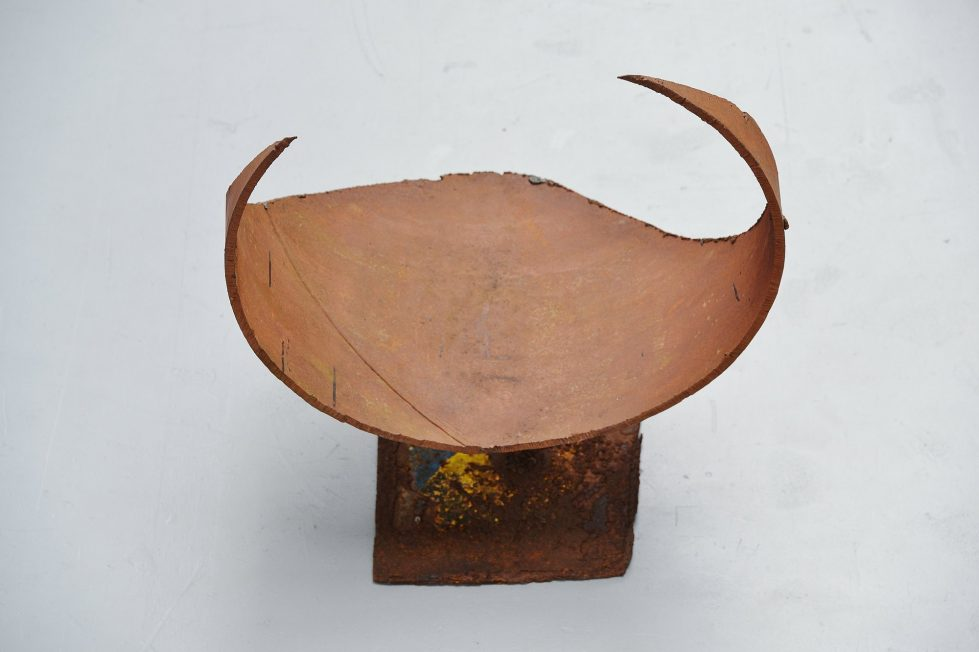 Theo Niermeijer abstract modern bull sculpture 1970