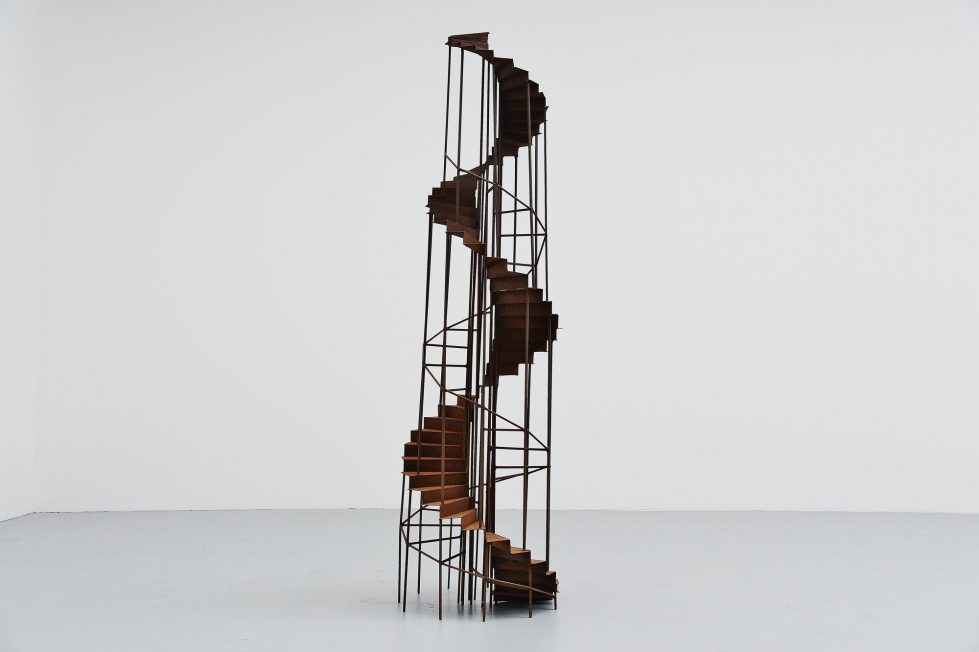 Large staircase sculpture Holland 1970