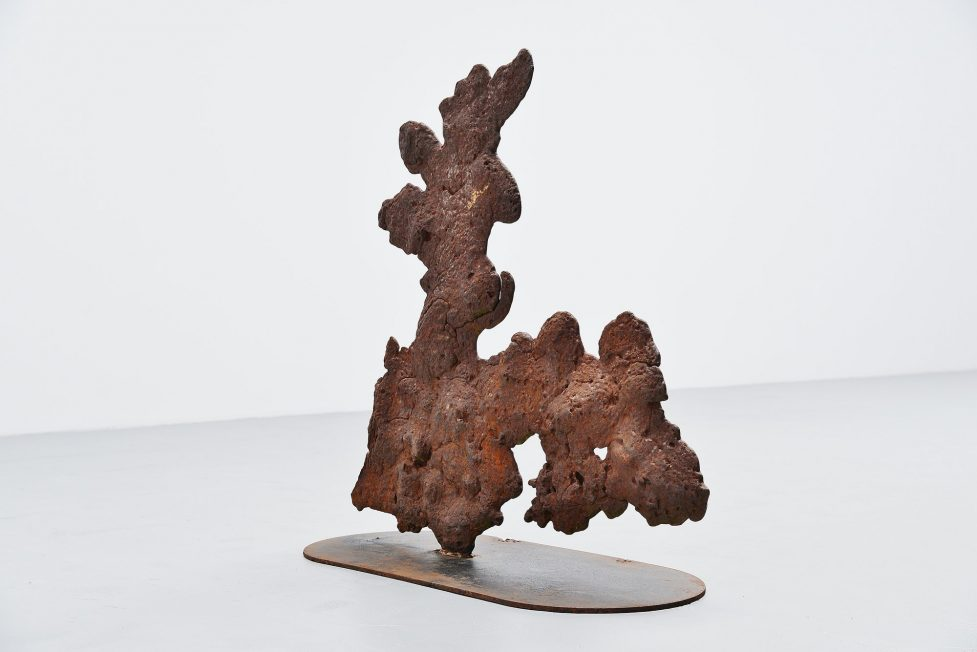 Theo Niermeijer abstract modern plant sculpture 1970