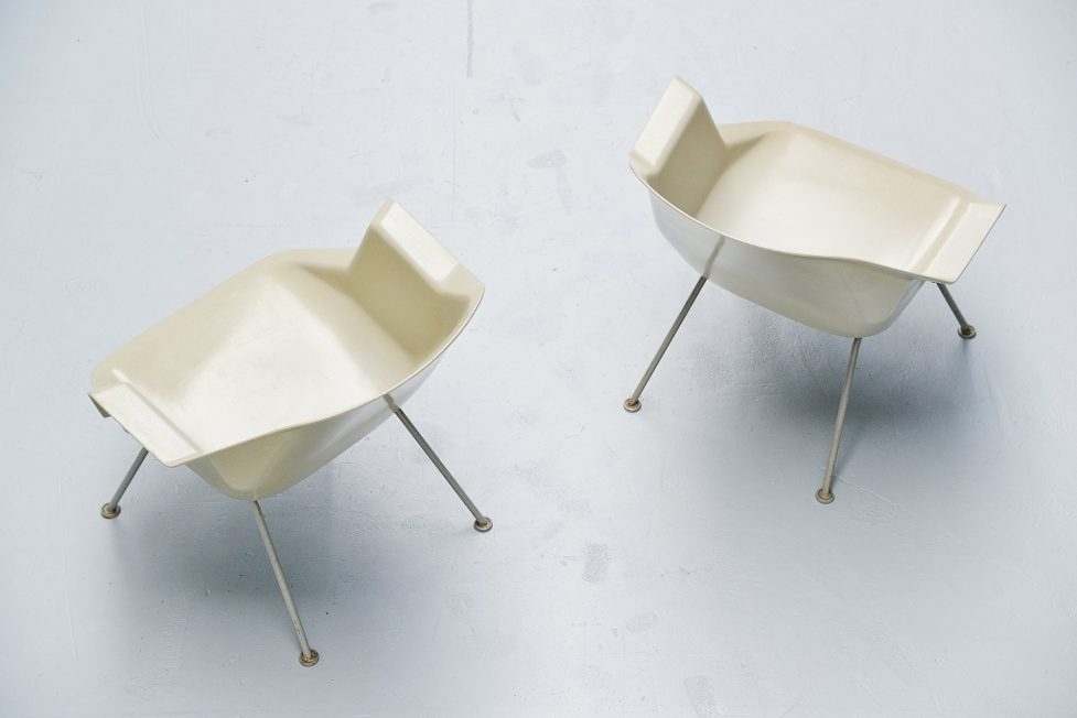 Wim Rietveld polyester chairs model 416 Gispen  1957