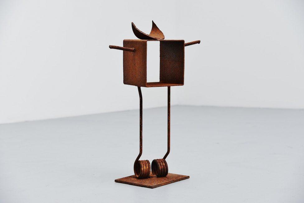 Theo Niermeijer abstract modern figure sculpture 1970