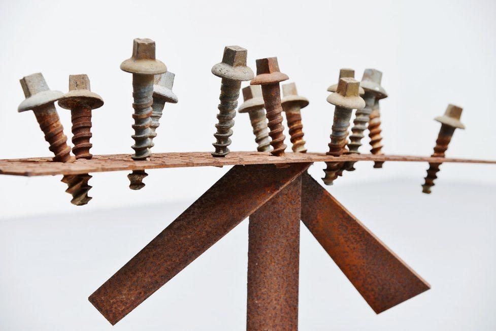 Theo Niermeijer abstract modern screws sculpture 1970