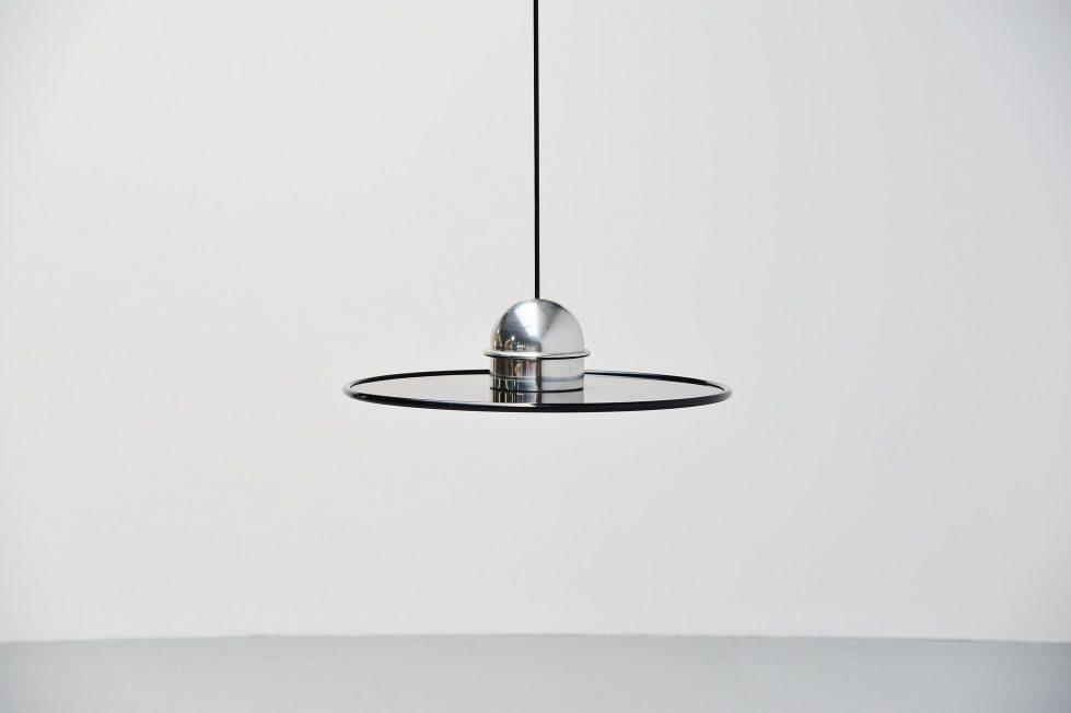 Ettore Sottsass Jr Stilnovo chandelier lamp, Italy 1970