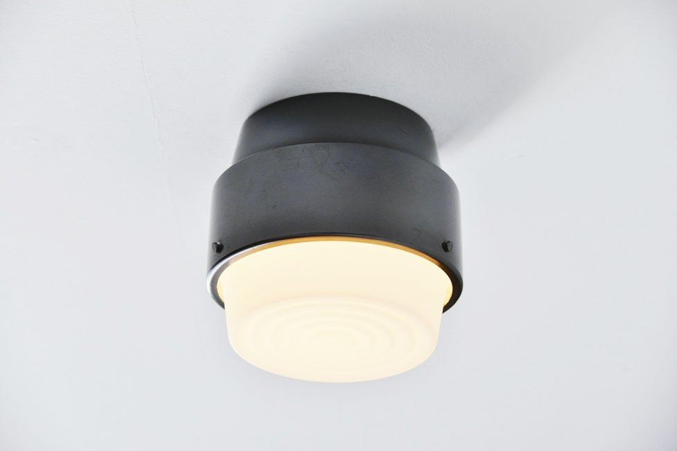 Stilnovo flush mount ceiling lamp, Italy 1964