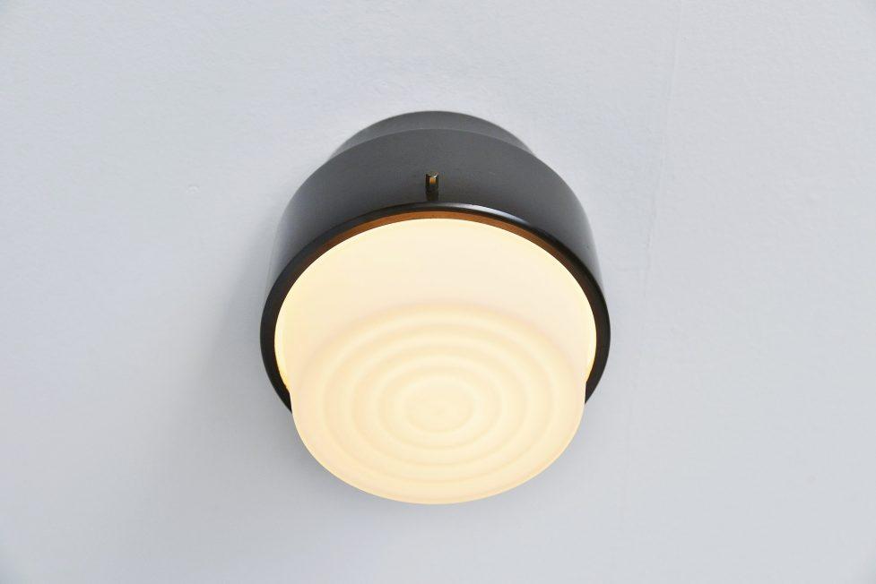 Stilnovo flush mount ceiling lamp, Italy 1964
