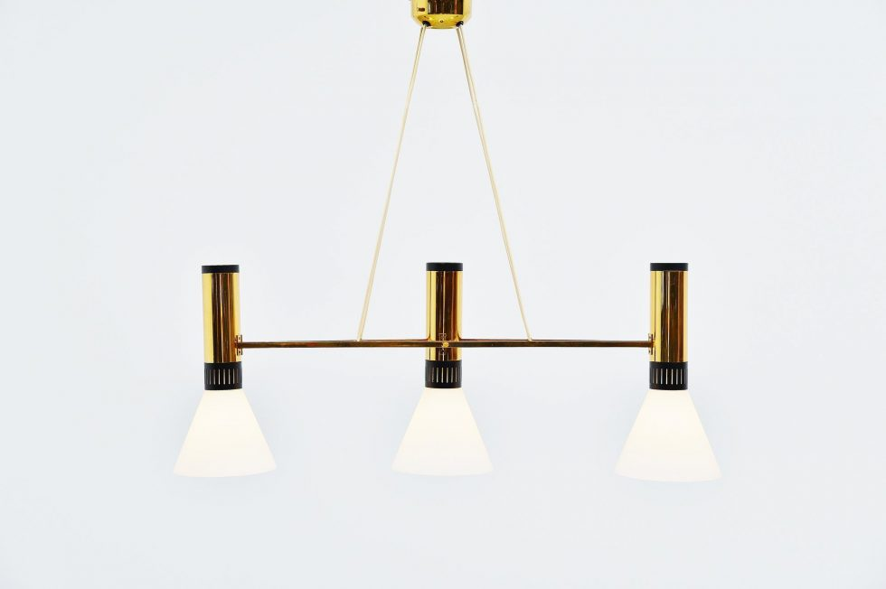 Stilnovo chandelier model 1173, Italy 1950