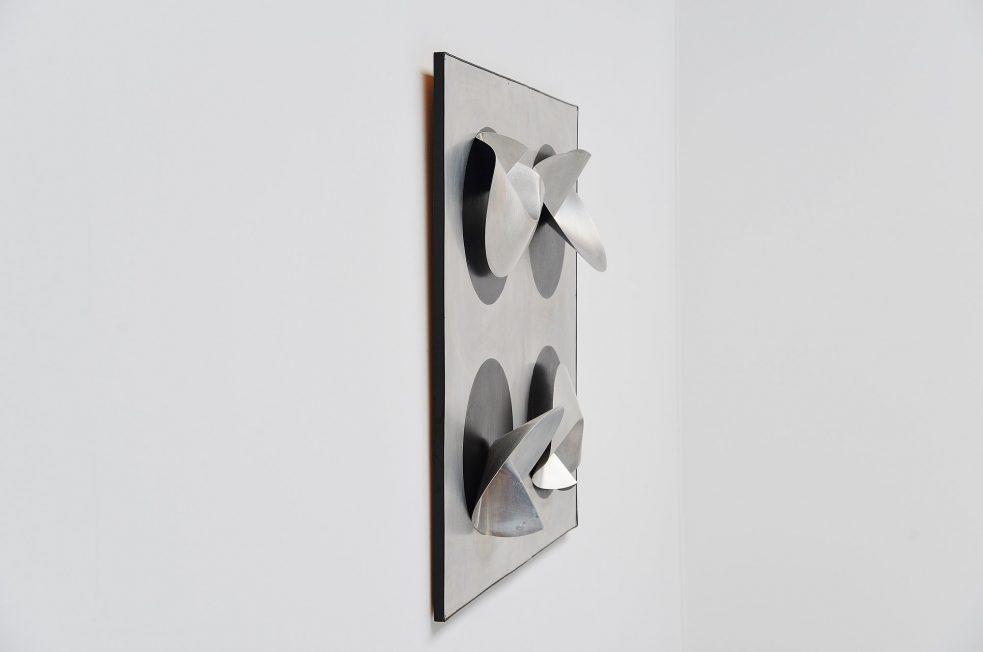 Jaap van Hunen geometric aluminium artwork Holland 1970