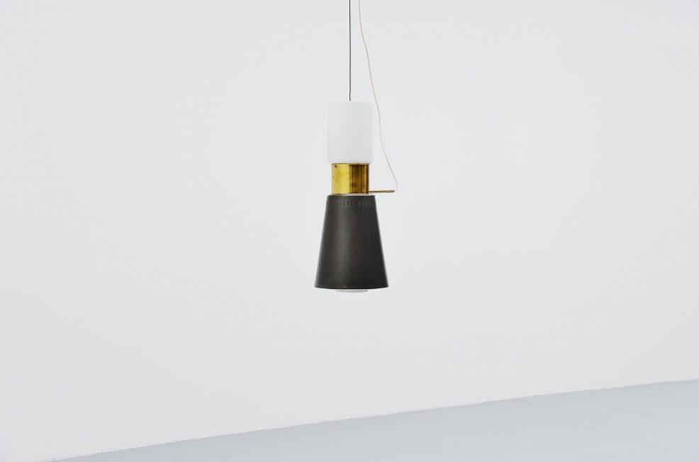 Stilnovo pendant lamp XXL, Italy 1950