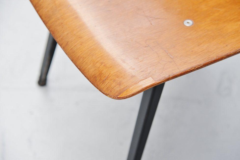 Friso Kramer Revolt chairs wood for Ahrend de Cirkel 1963