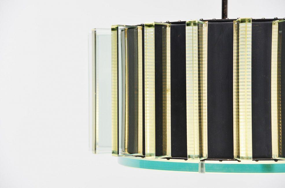 Impressive glass chandelier Italy 1950