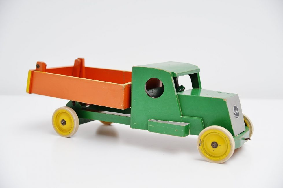 Ado Ko Verzuu green orange tilt truck Holland 1948