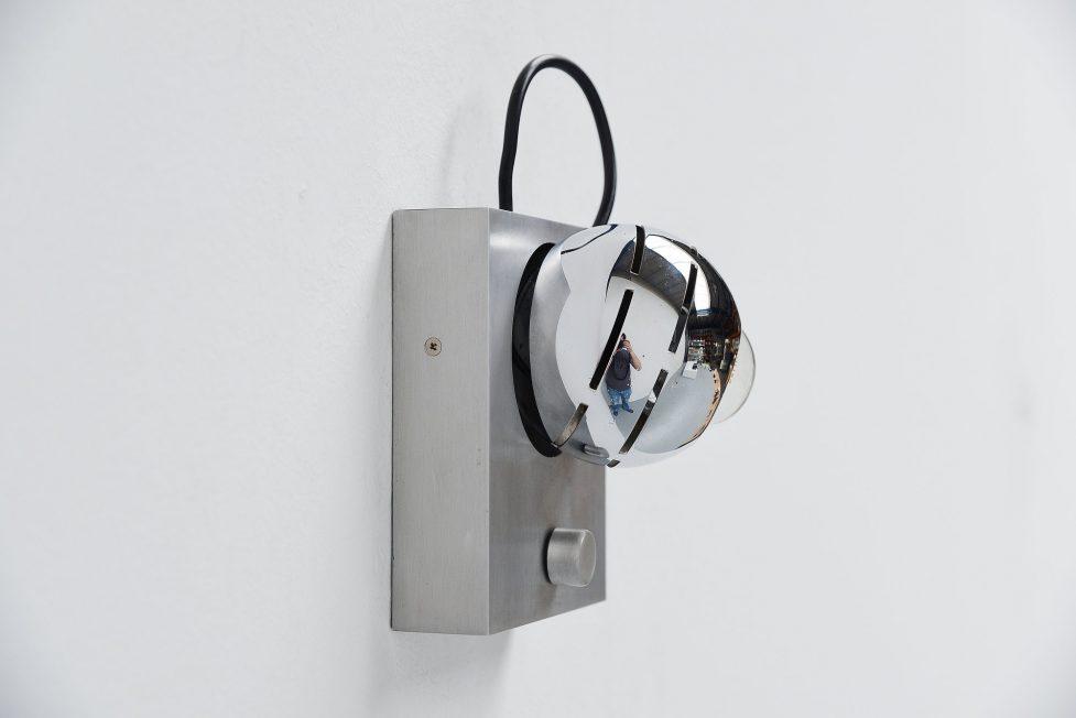 Angelo Lelli Arredoluce eye spot wall lamp Italy 1960
