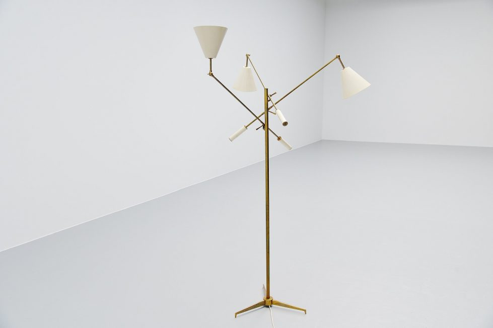 Arredoluce Triennale floor lamp Angelo Lelli, Italy 1947