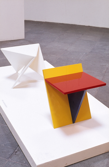 Ronald Willemsen blue side table Rotterdam 1982