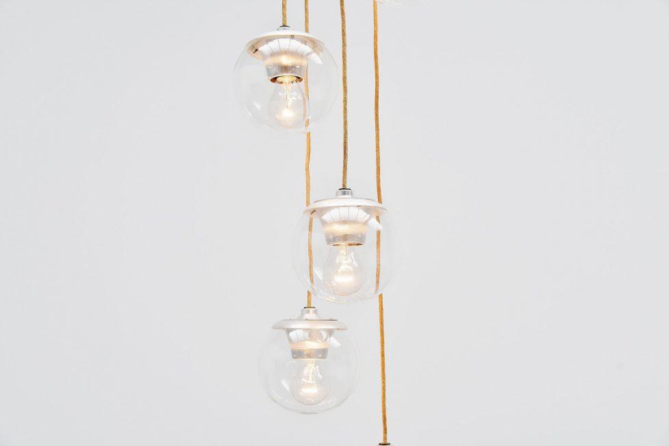 Gino Sarfatti chandelier Model 2095/5 Arteluce Italy 1958