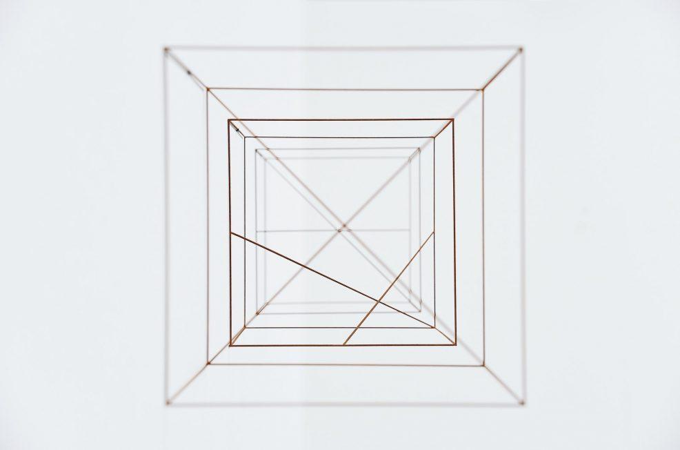 Anne Rose Regenboog cubes cross set, Den Haag 2015