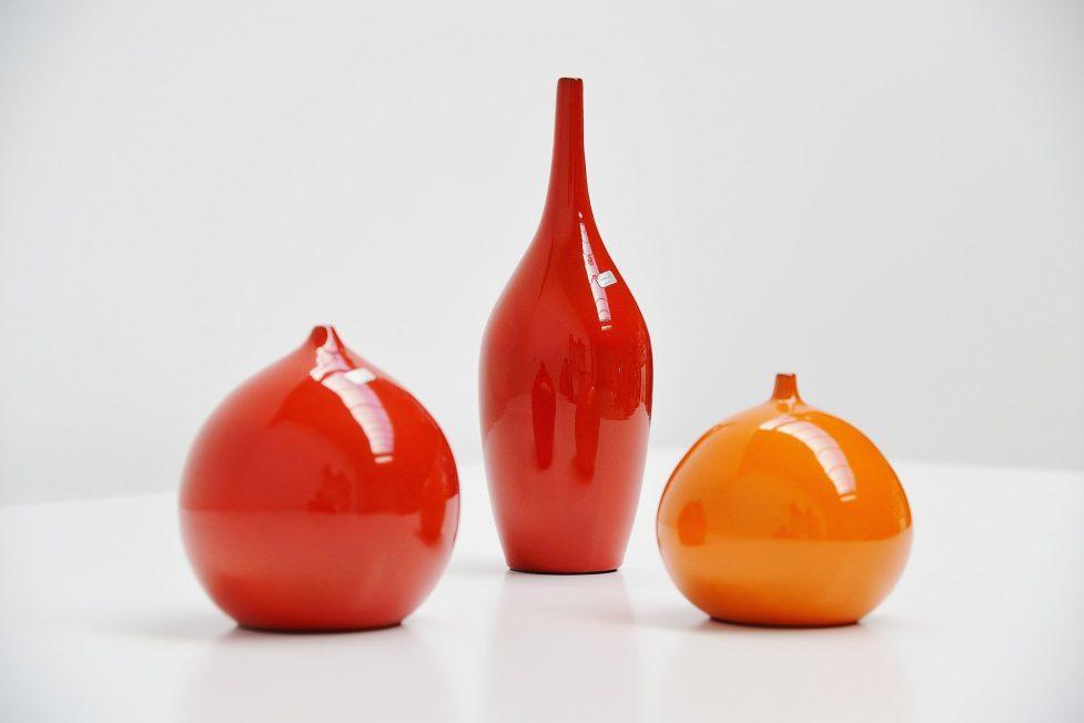 Paco ceramic vases set Belgium 1960