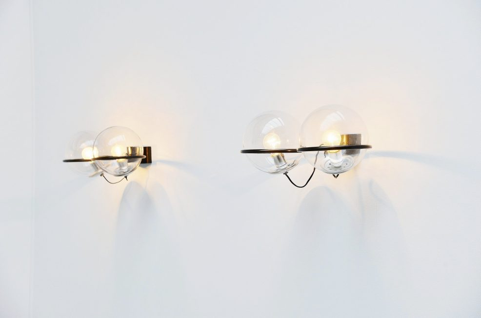 Gino Sarfatti wall lamps model 238/2 Arteluce 1960