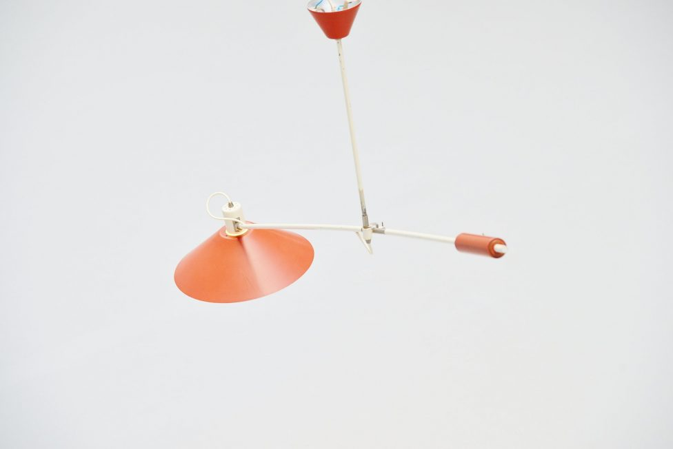 Anvia JJM Hoogervorst counter balance ceiling lamp Holland 1955