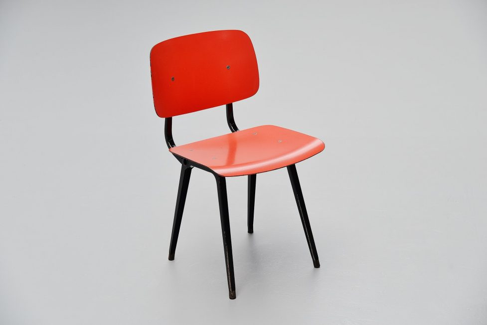 Friso Kramer Revolt chairs for Ahrend de Cirkel 1953 black colors